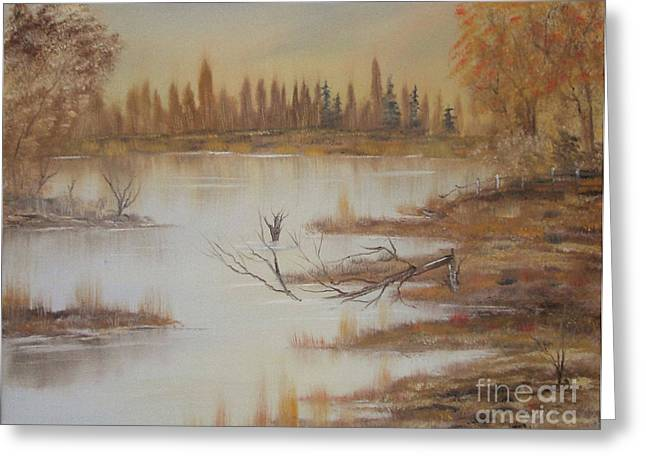 Impressions In Oil - 8 Greeting Card by Bill Turck
