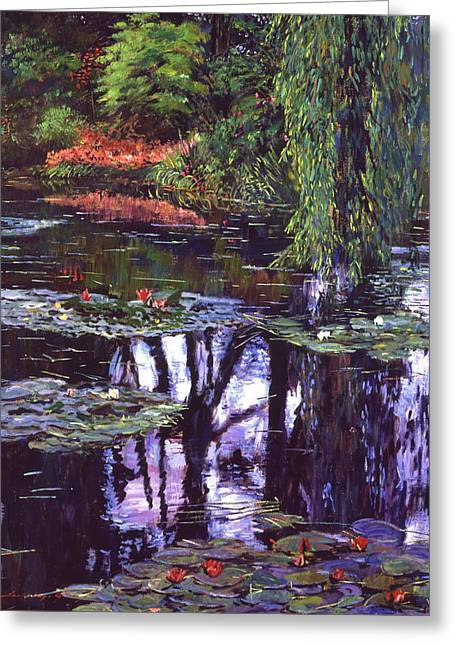 S Lily Greeting Cards - Impressions of Giverny Greeting Card by David Lloyd Glover