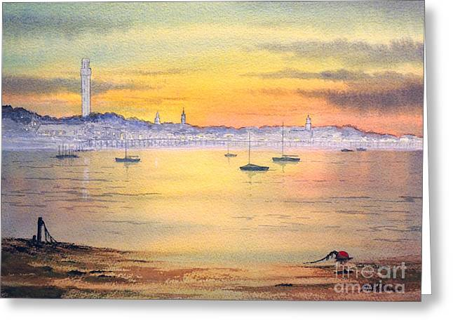 Main Street Greeting Cards - Impressions Of Provincetown Greeting Card by Bill Holkham