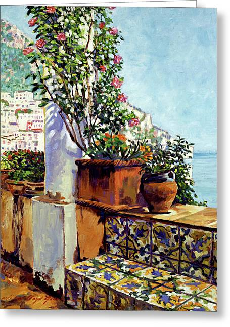 Most Popular Paintings Greeting Cards - Impressions Of The Riviera Greeting Card by David Lloyd Glover