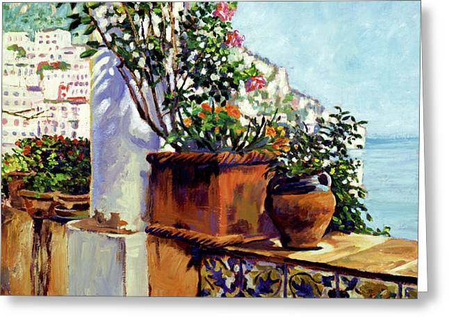 Impressions Of The Riviera Greeting Card by David Lloyd Glover