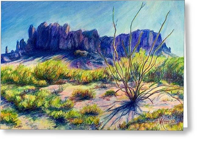 Impressions Of The Superstitions Greeting Card by Mary Knape
