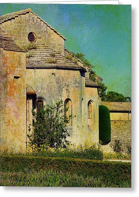Vintage Painter Greeting Cards - Impressions of Van Goghs Saint-Paul-de-Mausole Greeting Card by Carla Parris