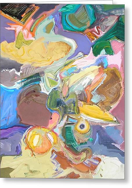 Abstract Expressionist Greeting Cards - Improvisation #8 Greeting Card by Philip Rader