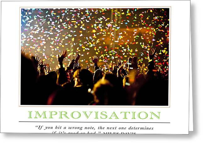 Improvisation Greeting Cards - Improvisation Greeting Card by David Simchock