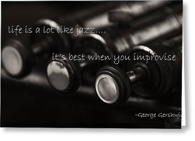 Gershwin Greeting Cards - Improvise Greeting Card by Eugene Campbell