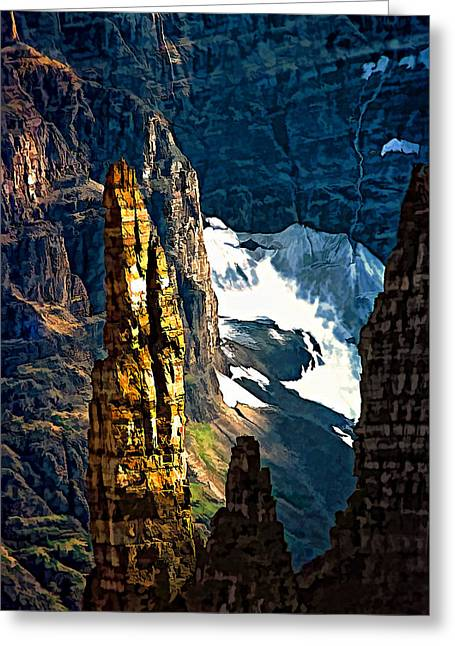 Alberta Prints Greeting Cards - In a High Place Greeting Card by Steve Harrington