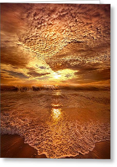 Summer Morning Greeting Cards - In a Moment or Two Greeting Card by Phil Koch