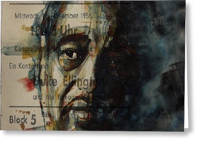 In A Sentimental Mood Duke Ellington Greeting Card by Paul Lovering