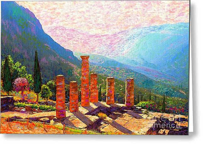 In Awe Of Delphi Greeting Card by Jane Small