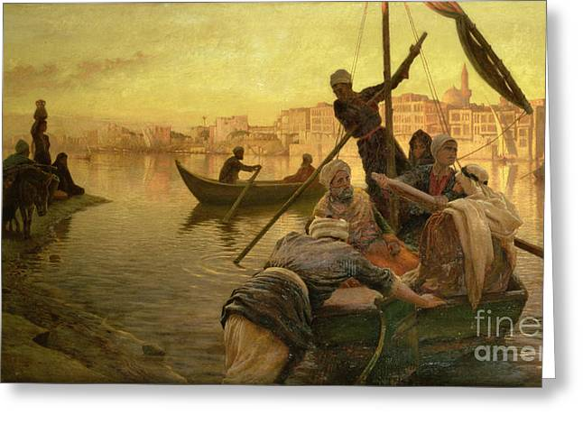 In Cairo Greeting Card by Joseph Farquharson