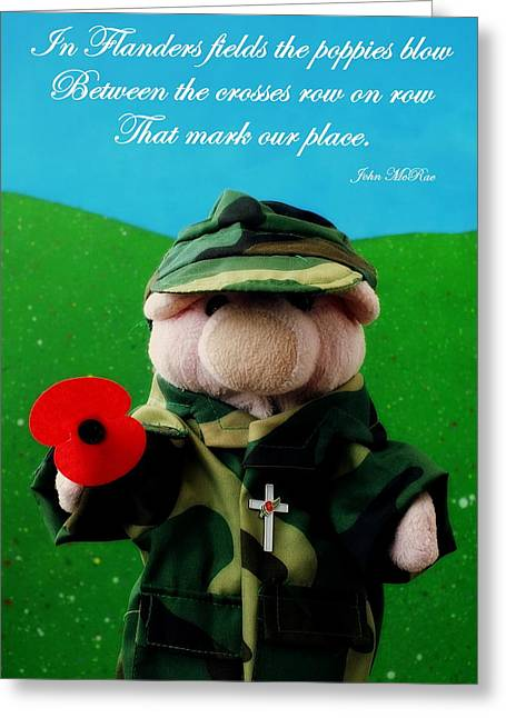 Ypres Greeting Cards - In Flanders Fields Greeting Card by Piggy