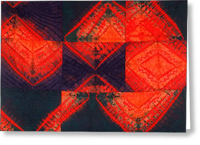Large Tapestries - Textiles Greeting Cards - In Flux Greeting Card by Mildred Thibodeaux
