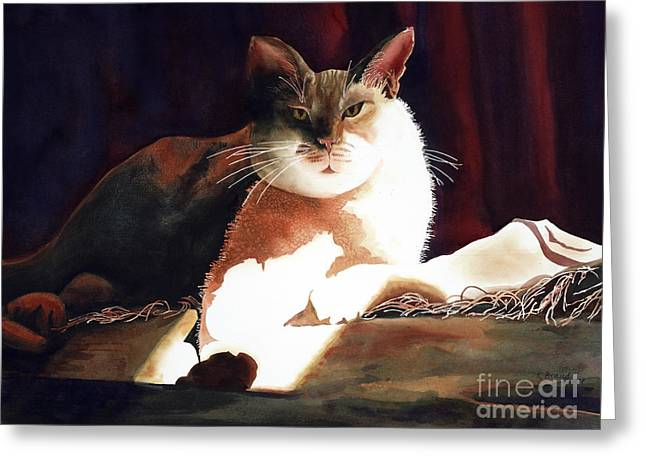Award Greeting Cards - In Her Glory II               Greeting Card by Kathy Braud