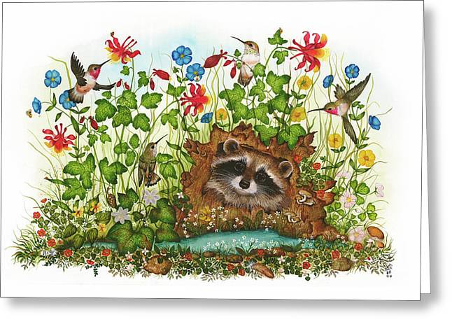 In Hiding Greeting Card by Donna Genovese