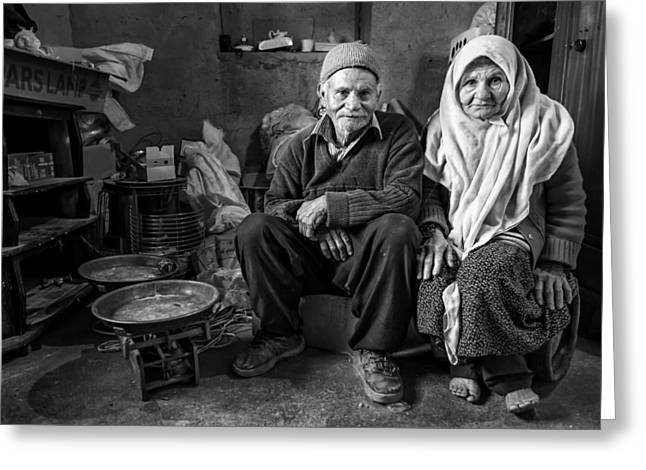 Documentary Photographs Greeting Cards - In House Greeting Card by Mohammadreza Momeni