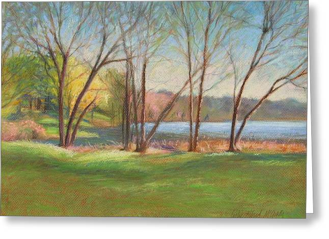 Spring Pastels Greeting Cards - In Just Spring at Plug Greeting Card by Leslie Alfred McGrath