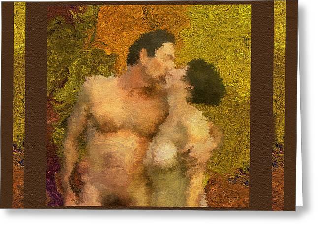 In Love Greeting Card by Kurt Van Wagner