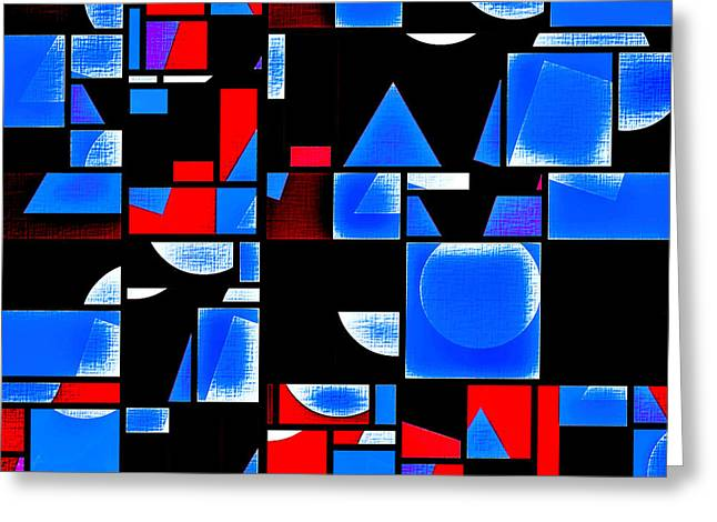 Geometric Art Greeting Cards - In Medias Res Greeting Card by Aurelio Zucco