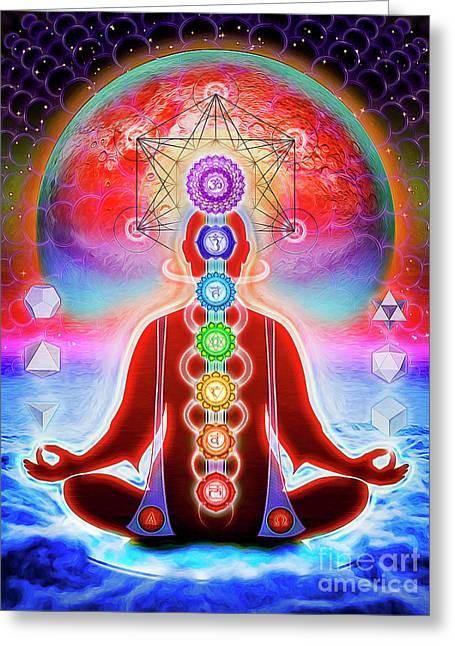 In Meditation Greeting Card by Dirk Czarnota