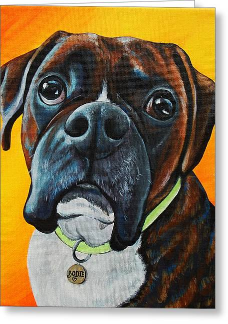 Love The Animal Greeting Cards - In Memory of Bodie The Boxer Greeting Card by Lauren Hammack