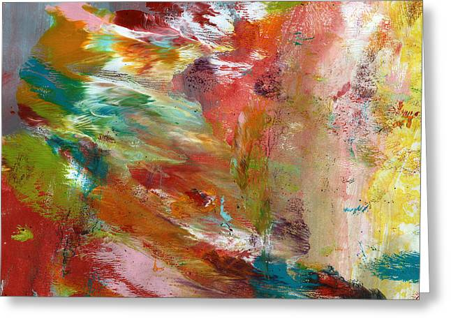 In My Dreams- Abstract Art By Linda Woods Greeting Card by Linda Woods