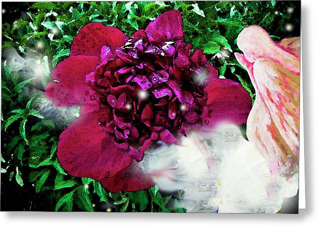 Angels Breath Greeting Cards - In My Garden II Greeting Card by Pam Ellis
