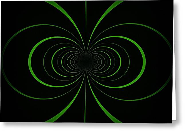 Abstract Shapes Greeting Cards - Spiraling Through Time Greeting Card by Kathy Bucari