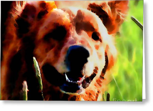 Retriever Prints Digital Art Greeting Cards - In My Youth Greeting Card by Terril Heilman