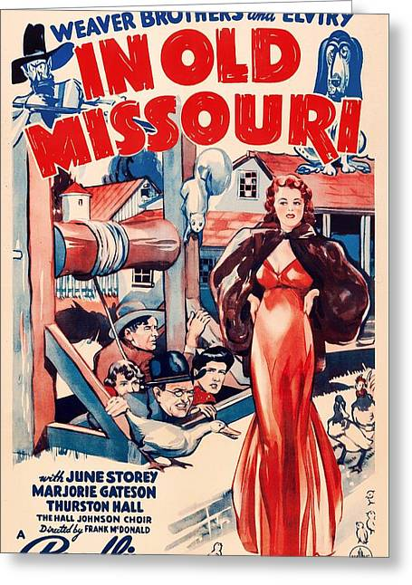 1940s Movies Greeting Cards - In Old Missouri 1940 Greeting Card by Mountain Dreams