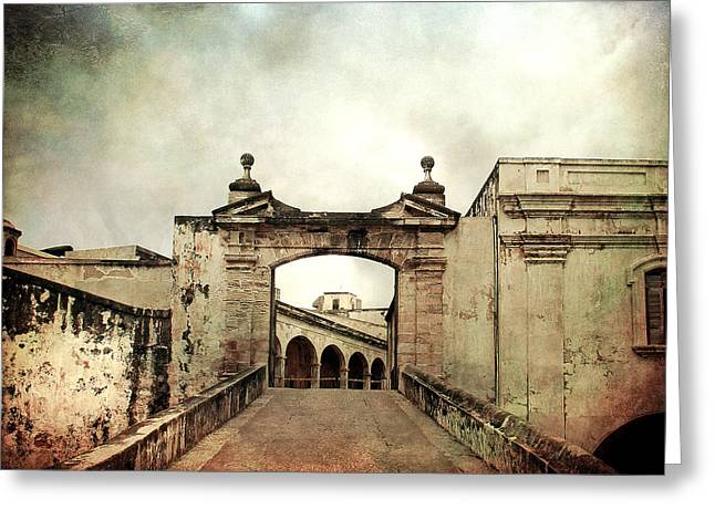 Historic Site Digital Greeting Cards - In Old San Juan Greeting Card by Julie Palencia