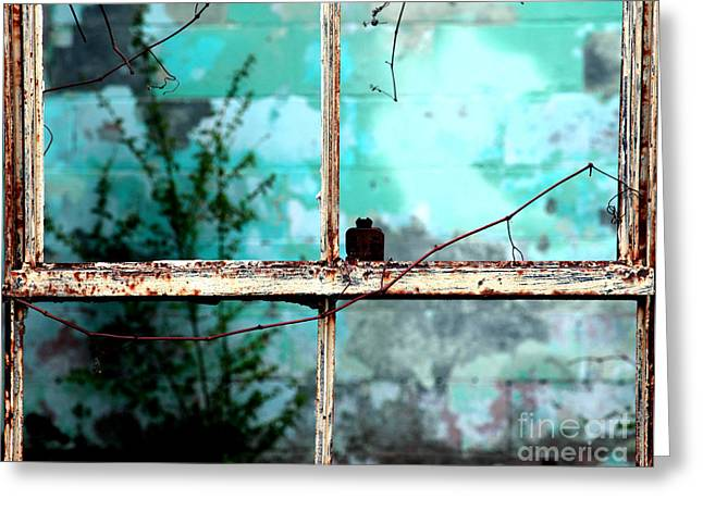 Abandonded Greeting Cards - In or out Greeting Card by Amanda Barcon