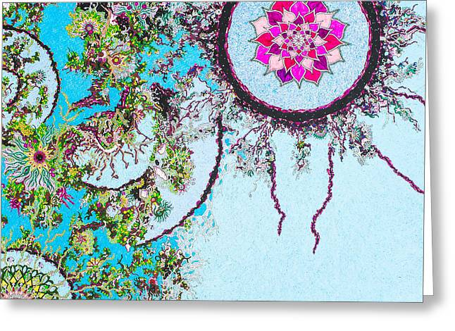 In Our Garden Greeting Card by Bobby Hermesch