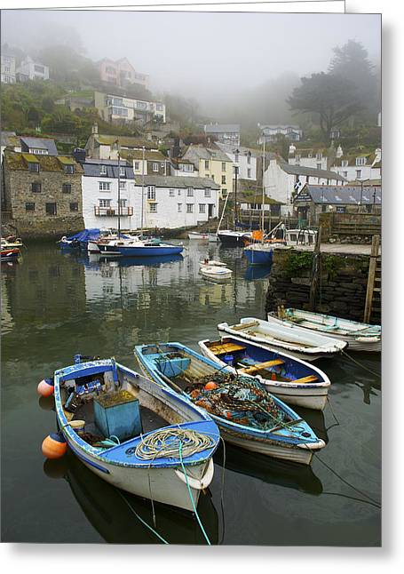 England Rural Village Greeting Cards - In Polperro, A Small Fishing Village Greeting Card by Jim Richardson