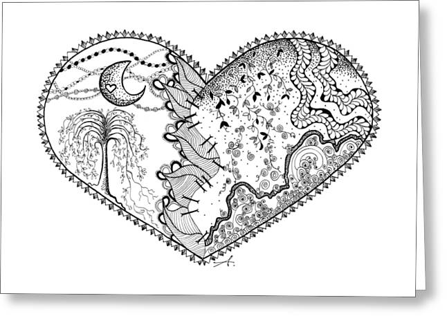 Repaired Heart Greeting Card by Ana V Ramirez