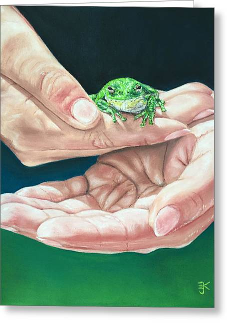 Nature Greeting Cards - In Safe Hands Greeting Card by E J Klepinger