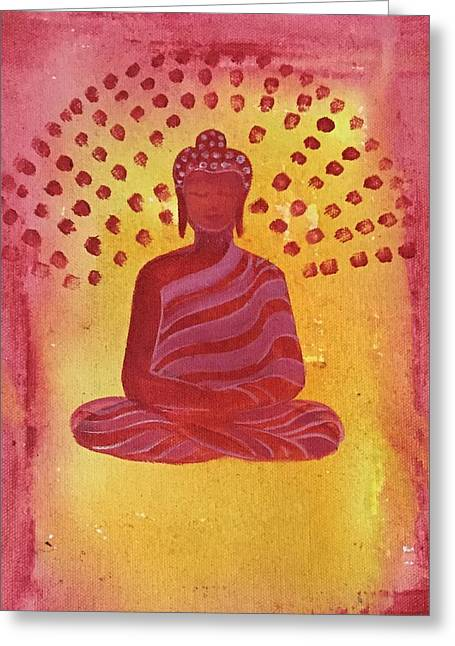 In Search Of Life - Lord Buddha Greeting Card by Nayna Tuli Fineart