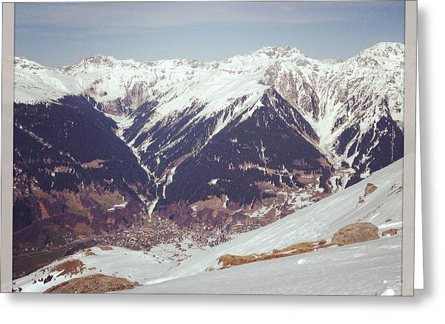 Swiss Photographs Greeting Cards - In the Alps Greeting Card by Manda Koepp-Piesche