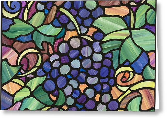 Grape Vineyard Greeting Cards - In The Arbor  Greeting Card by Lani Whitley