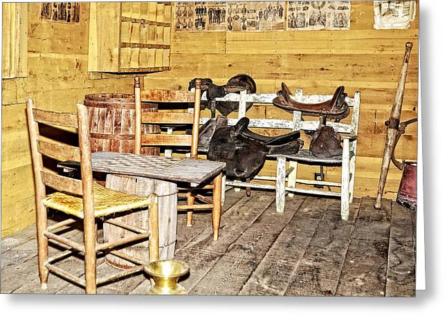 In The Barn Greeting Card by Susan Leggett