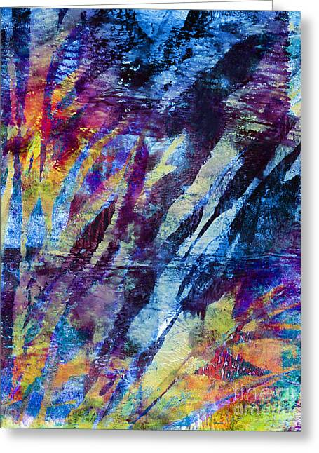 Recently Sold -  - Abstract Digital Mixed Media Greeting Cards - In the Bay Greeting Card by Laura L Leatherwood