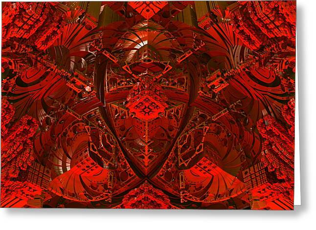 Geometric Design Greeting Cards - In the Belly of the Beast Greeting Card by Lyle Hatch