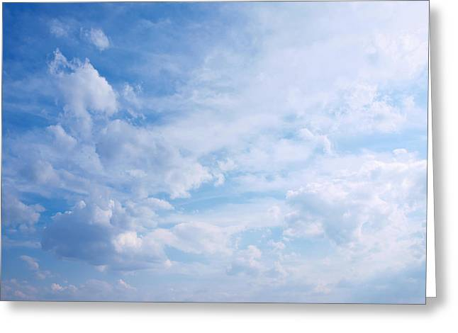Breezy Greeting Cards - In the clouds...cloudscape Greeting Card by Tom Druin