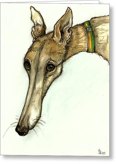 Greyhound Dog Greeting Cards - In the doldrums Greeting Card by Elle Wilson