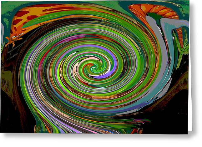 In The Eye Of The Storm Greeting Card by Marian Bell