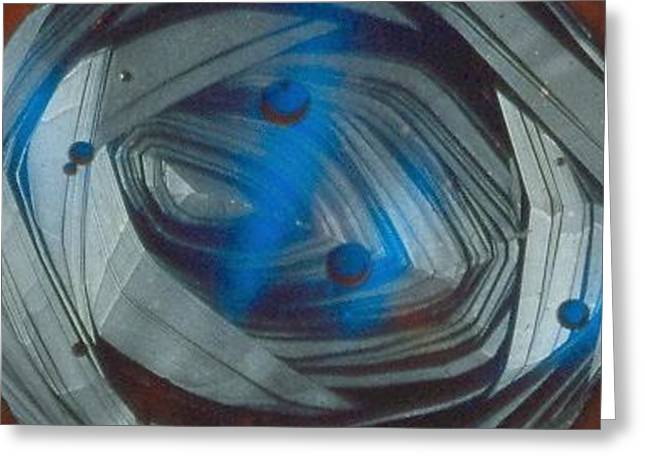 Contempory Glass Greeting Cards - In the Eye of The Tunnel Greeting Card by Rick Silas