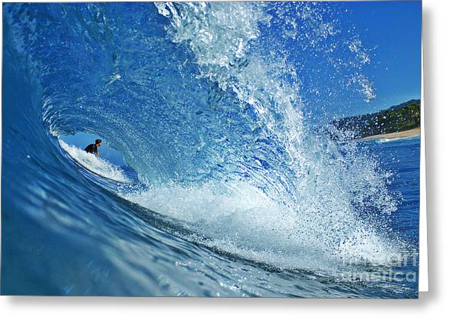 Surfer Art Greeting Cards - In the Eye Greeting Card by Paul Topp