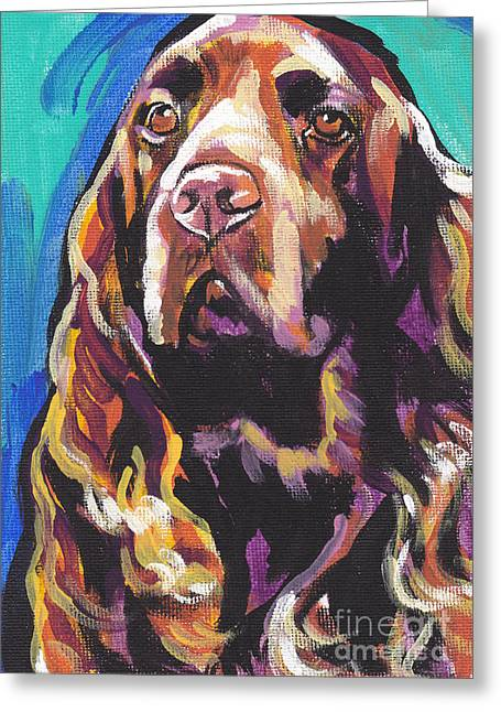 Spaniel Greeting Cards - In The Field Greeting Card by Lea