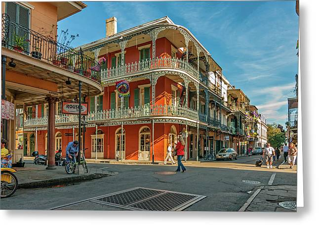 In The French Quarter - 3 Greeting Card by Steve Harrington