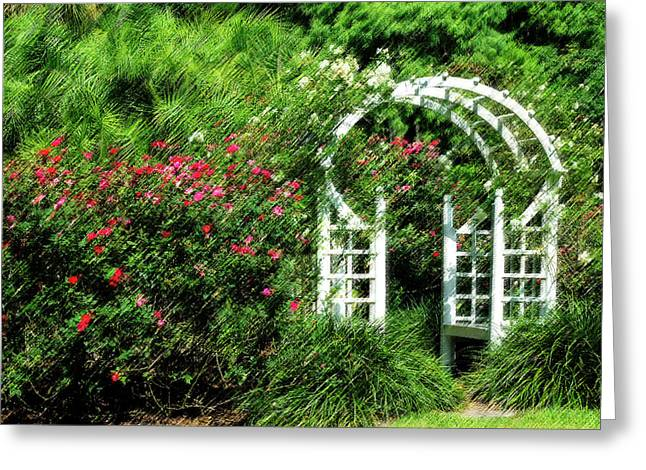 Peaceful Scenery Greeting Cards - In the Garden Greeting Card by Carolyn Marshall